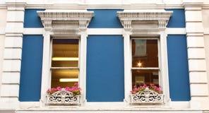 Pair of british window Royalty Free Stock Photo