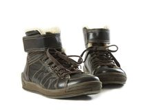 Pair of brown boots Royalty Free Stock Photos
