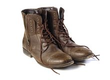 A pair of brown boots Stock Image