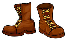 A pair of brown boots. Illustration of a pair of brown boots on a white background Stock Photography