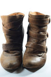 A Pair of Brown boots. A photo of a pair of ladies brown boots Stock Photography