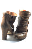 Pair of Brown boots. A photo of a pair of ladies brown leather boots Royalty Free Stock Photography