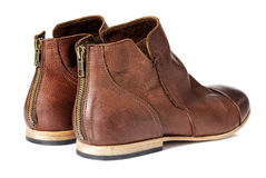 A Pair of Brown Boots Royalty Free Stock Images