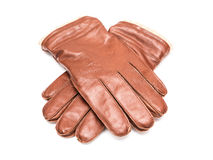 Pair Of Brown Leather Gloves Royalty Free Stock Image