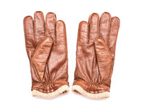 Pair Of Brown Leather Gloves Stock Image