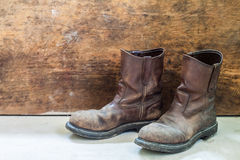 Pair of brown leather shoes Royalty Free Stock Photography