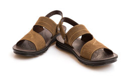 Pair of brown leisure sandal Stock Photo