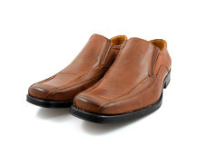 Pair of brown male business shoes Royalty Free Stock Photo