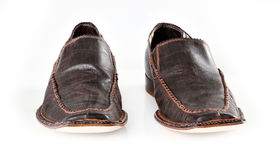 Pair of brown male mocassins Royalty Free Stock Photo