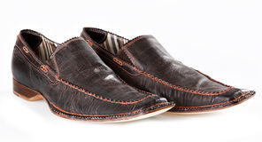 Pair of brown male mocassins Royalty Free Stock Photography