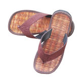 Pair of brown sandals Royalty Free Stock Photos