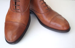 Pair of brown shoes Stock Image