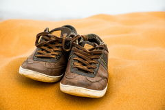 A pair of brown shoes Stock Images