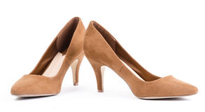 Pair of brown shoes Royalty Free Stock Image
