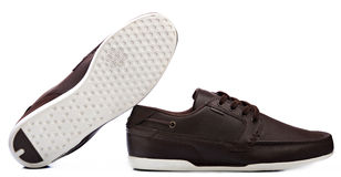 Pair brown shoes Royalty Free Stock Photos