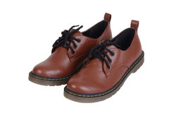 Pair of brown shoes. Stock Images