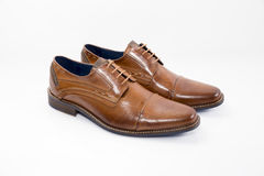 Pair of brown shoes Royalty Free Stock Photography