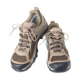 Pair of brown trainers Royalty Free Stock Image