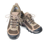Pair of brown trainers royalty free stock photo