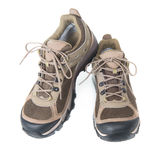 Pair of brown trainers Royalty Free Stock Images