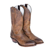 Pair of Brown Western Boots Stock Images