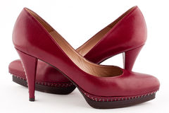 A pair of burgundy shoes Royalty Free Stock Photos