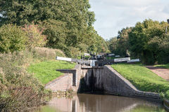 Pair of Canal Locks Stock Photography