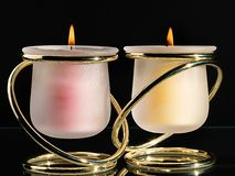 Pair of candles Royalty Free Stock Photos