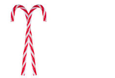 Pair of candy canes royalty free stock photography