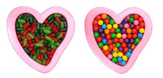 A pair of candy and love symbol Stock Photo