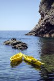 Pair of canoes Royalty Free Stock Photos
