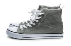 Pair of canvas sport shoes Stock Images