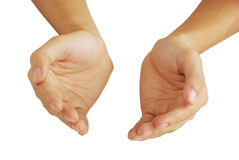 A pair of caring hands Stock Image