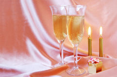 Pair of champagne flutes Stock Photography
