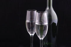 Pair of champagne flutes Royalty Free Stock Image
