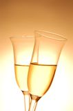 Pair of champagne flutes Stock Images
