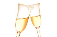 Pair of champagne flutes Stock Photos