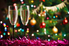 Pair of champagne glasses Stock Images