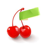 Pair of cherries for cocktails Stock Photos