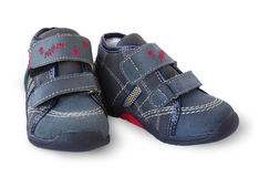 Pair child little boot Stock Image