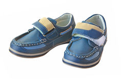 Pair child little fashionable  boots Stock Image