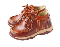 Pair of child\'s  bootls Stock Images