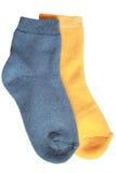 Pair of child's different socks Stock Photo