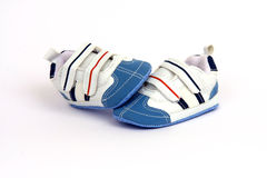 Pair of child's shoes Stock Photos