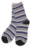 Pair of child`s striped socks Royalty Free Stock Photo