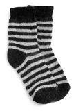 Pair of child's striped socks Stock Images