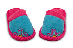 Pair of child  slippers Royalty Free Stock Photography
