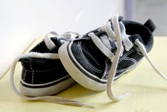 A Pair of Children's Shoes. A child's pair of sneakers Stock Photography