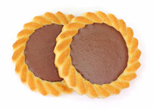 Pair Chocolate Filled Cookies Close View Stock Photography