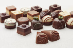 Pair of chocolates and mix Royalty Free Stock Photos